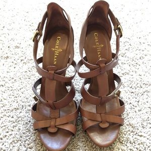 Come Haan Brown Leather Nike Air Strappy Heels